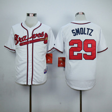 Mens 3 Dale Murphy 10 Chipper Jones 24 Deion Sanders 29 John Smoltz throwback Jerseys color white red black blue gray(China (Mainland))