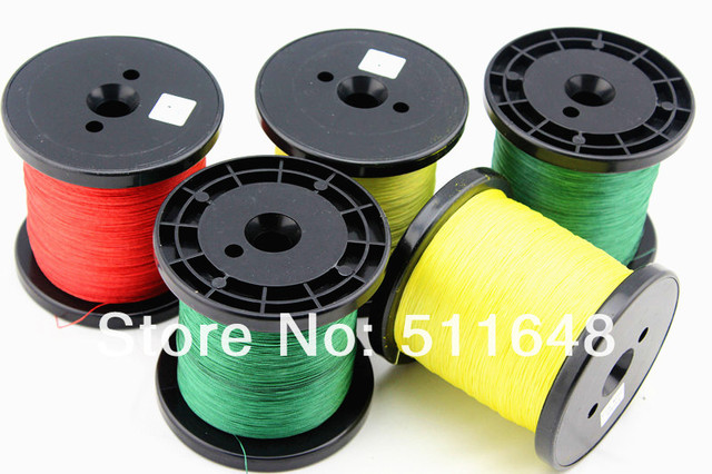 Free Shipping 3 COLORS 1000M/PCS 30LB High Quality PE Braid FISHING LINE 6 Strand