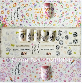 Free shipping DIY nail art full version of the watermark all water transfer printing sticker nails applique Japan really HOT