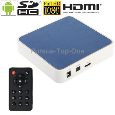 1080P Full HD Android 2.3 TV Set Top Box Media Player with WIFI Remote Control 512MB RAM 4GB ROM CPU RK2918 1.2GHz(China (Mainland))