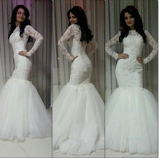 Long Half Sleeve Muslim Lace Wedding Dress High Quality: Modest Muslim Wedding Dresses 2016 Vestido De Noiva High
