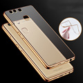 New For Huawei P9 P9 Plus Luxury Ultra Thin Clear Crystal Rubber Plating Electroplating TPU Soft