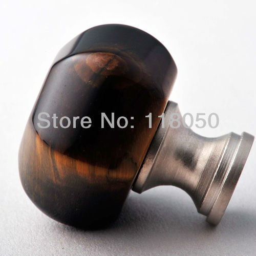 30mm Tiger's Eye Knobs for Drawers,Dressers,Wardrobes,Kitchen Cabinets and Cupboard Doors,Cute Precious Stone Furniture Hardware