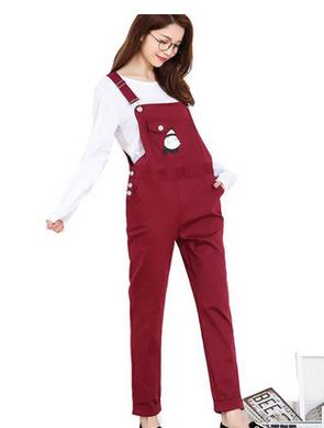 2016 new fashion spring and autumn maternity overalls  summer leisure Pregnant women suspender pants SH-8833<br><br>Aliexpress