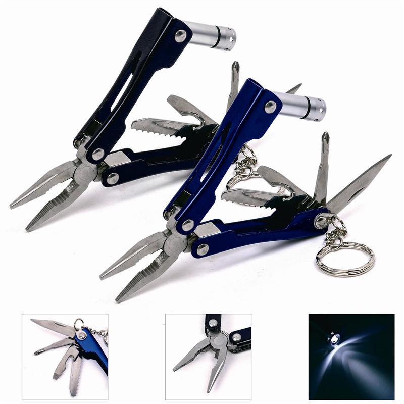 Pocket Size LED Flashlight Fishing Knife, For Camping Multi Tool Fishing Pliers(China (Mainland))
