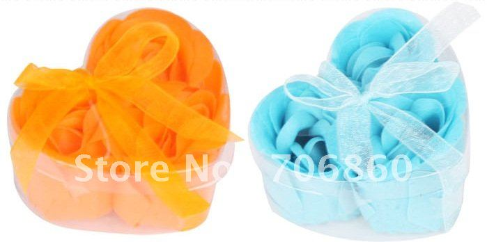 Soap Flower Soap Rose Handmade Rose Petals Best Gift For Birthday Wedding Holiday 5packs(15pcs)/lot(China (Mainland))