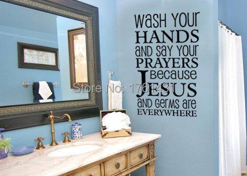 se laver les mains et faites vos prires stickers muraux vinyle autocollants dcoration salle de bains carrelage mural autocolla - Stickers Tuile Vinyle Salle De Bain