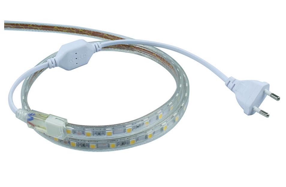 Super bright 5050 AC 220V led strip flexible light 1M/2M/3M/4M/5M//10M/15M/20M +Power Plug,60leds/m Waterproof led light lamp