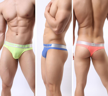 Brand New Sexy Underwear Men Briefs Male Thin Breathable Low-waist Bikini Briefs Brave Person Size S-XL(China (Mainland))