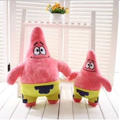 70cm Patrick Star small bob sponge doll pink yellow plush toy boy birthday gift children's day - E-fashion Times store