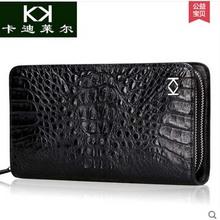 KADILER/import crocodile handbag new men's leather double zipper bag business long men purse(China (Mainland))