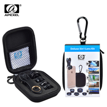 Buy APEXEL HD Camera Lens Kit 5 1 iPhone 6/6s 6/6s Plus SE Samsung Galaxy S7/S7 Edge S6/S6 Edge Android Smart Phone for $11.80 in AliExpress store