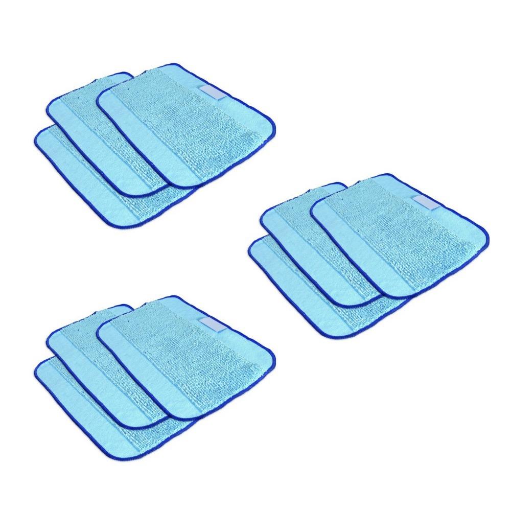 9pcs/Lot Microfiber Mopping Cloths for Mint 5200 5200C 4200 4205 irobot Braava 380 380t 320(China (Mainland))