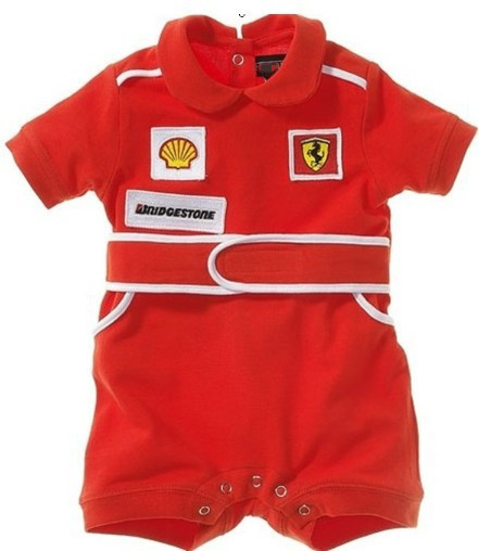 2015 new hot baby rompers red car baby kids jumpsuits sports style race suits boy rompers short sleeve baby fashion clothes(China (Mainland))