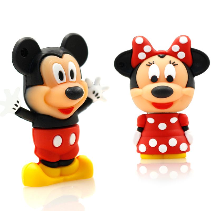 usb flash drive 64g pen drive 32g pendrive 16g 8g 4g new style Cute cartoon Mickey Hot Sale pendrive Usb2.0 u disk free shipping(China (Mainland))