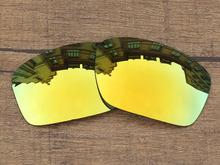 24K Golden Mirror Polarized Replacement Lenses For Scalpel Sunglasses Frame 100% UVA & UVB Protection