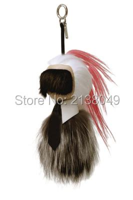Fa003 18 см Karlito мода натуральный мех норки лиса овец брелок карл кукла