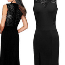 Women Red black Maxi dress lace Mermaid Tail sexy evening bodycon semi  sheer back hollow out 3ef83f34e677