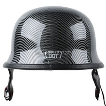 DOT Carbon Fiber WWII German Style Motorcycle Cruiser Half Helmet Biker Size M(China (Mainland))