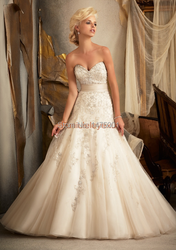 sweetheart court train bridal gowns white ivory wedding dresses