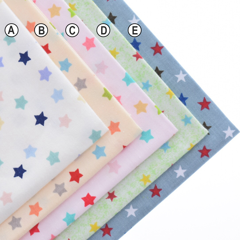 Cotton Fabric Printed Fabrics Patchwork For Sewing Quilt Scrapbooking Tissue Pattern Needlework Material Curtain Cloth Star Set(China (Mainland))