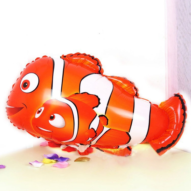 18Inch Cartoon clown fish foil balloons Balloon Ball Helium Inflable Giant Latex Balloons For Christams Decoration(China (Mainland))