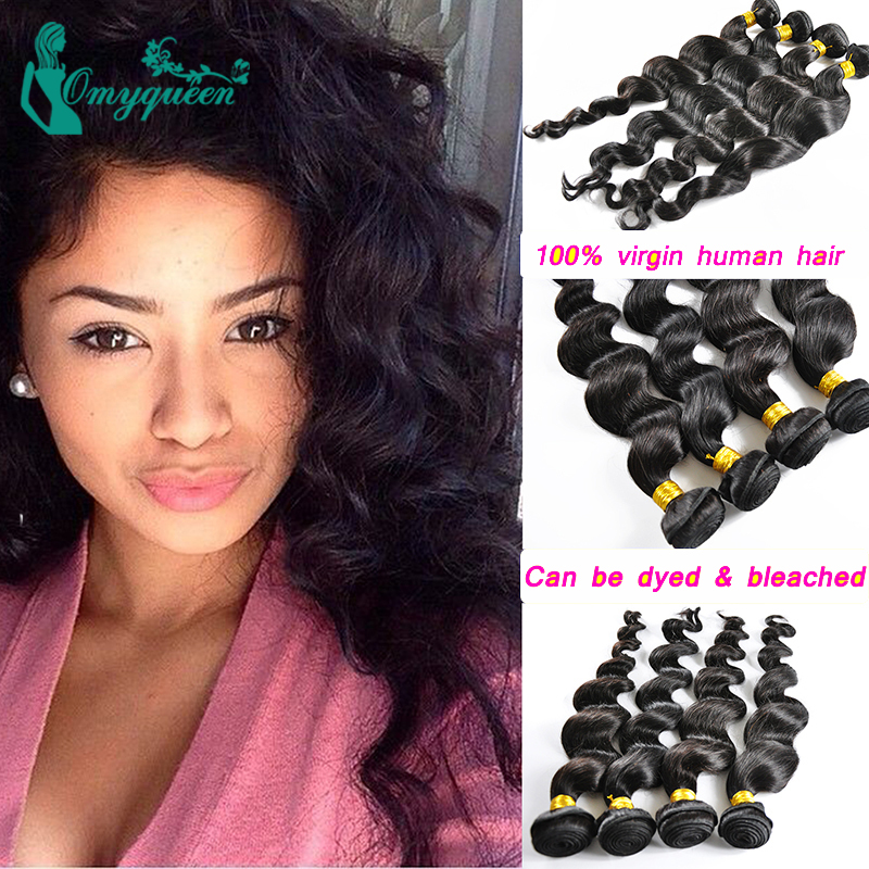 Grade 5A Peruvian Loose wave Hair Weaving Unprocessed Virgin Peruvian Loose Wave 4pcs lot Hair Extension Human Hair Bundle