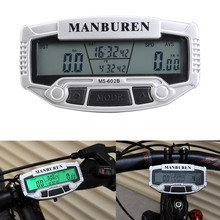 LED Digital LCD Backlight Bicycle Computer Bicycle Odometer + Speedometer + Stopwatch Bicycle Accessories BHU2(China (Mainland))