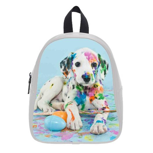 Buy Watercolor Backpacks Custom Stylish Puppy Kid's School Bags ...
