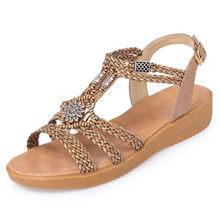 Aiyuqi Vrouwen Sandalen Wig 2020 Nieuwe Zomer Rome Vrouw Sandalen Grote Maat Casual Comfortabele Schoenen Platte Vrouwen Sandaal(China)