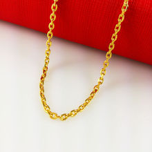 2014 New Fashion,Colorfast 45cm vacuum plated 24K Gold Necklace, gold chain for women,Free Shipping,B012(China (Mainland))