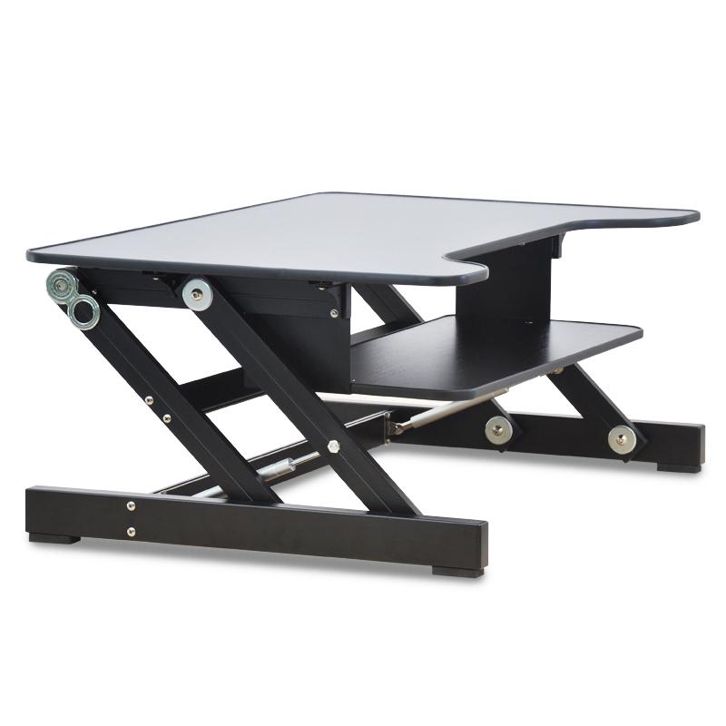 Foldable Laptop Table Laptop Desk Ergonomic Adjustable Height with Keyboard Tray Aluminum Alloy Notebook/Monitor Holder 81x52 cm(China (Mainland))