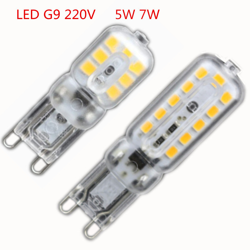 1X Mini LED G9 Light 5W 7W SMD2835 G9 LED Lamp 220V 240V LED Bulb Lampada LED Chandelier Lamps Lighting Warm White/Cold White(China (Mainland))
