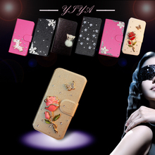 Various Flower Luxury flip phone case cover For NOKIA lumia 800 Bling Diamond holder bag(China (Mainland))