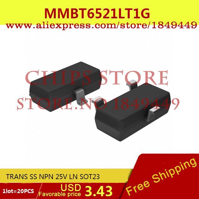 Бесплатная Доставка Интегральные Схемы Типов MMBT6521LT1G TRANS SS NPN 25 В LN SOT23 6521 MMBT6521 20 ШТ.