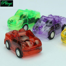 Supermarket hot sale mini pull back cars small toy candy colored transparent pull back warrior car(China (Mainland))