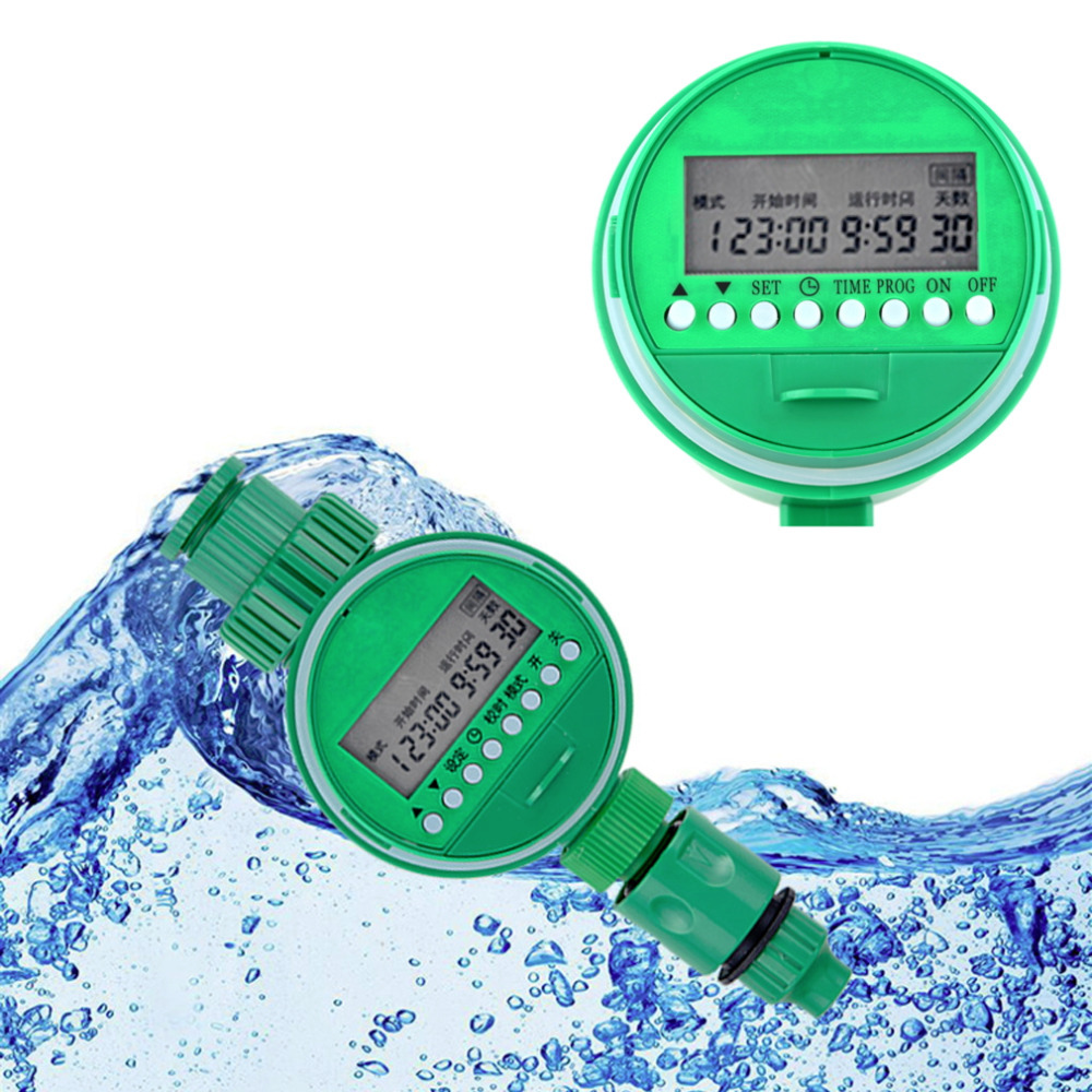 LCD Waterproof Automatic Electronic Solenoid valver WaterTimer Garden Irrigation Controller Digital Intelligence Watering System(China (Mainland))