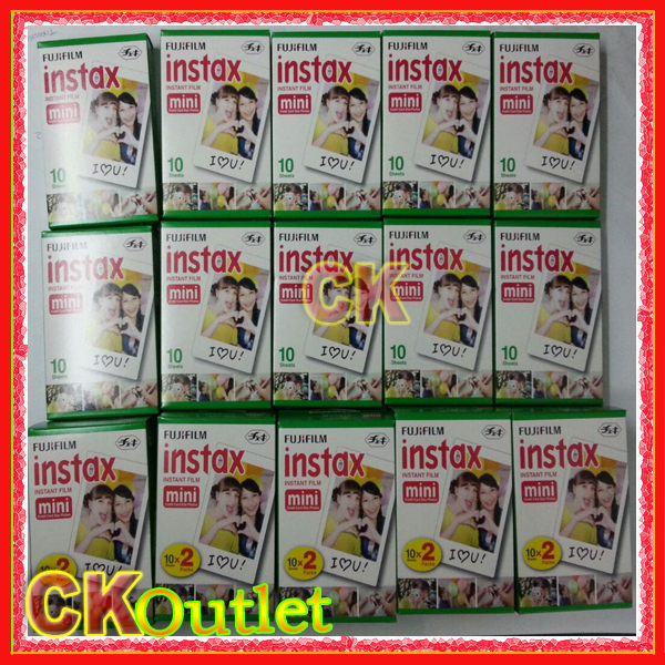 100% Original Fujifilm Instax Mini Film White Edge 50pcs For Instax mini 7s 8 25 50 90 SP1 Camera MADE IN JAPAN w/Free Gift(China (Mainland))