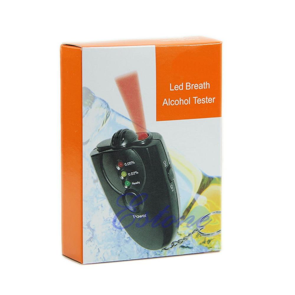 Free Shipping New Breathalyzer Keychain Led Breath Alcohol Tester With Flashlight(China (Mainland))