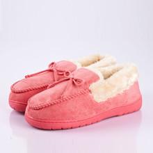 6 colori di vendita calda gli amanti della peluche di inverno pantofole di cotone imbottito pantofole donne e uomini a casa scarpe calde più il formato 35-44(China (Mainland))