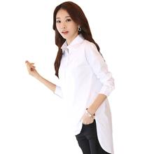 Blusas y camisas mujer白ブラウス女性基本シャツ レディース オフィス トップス ファム プラス サイズ vetement ファム シュミーズ女性服