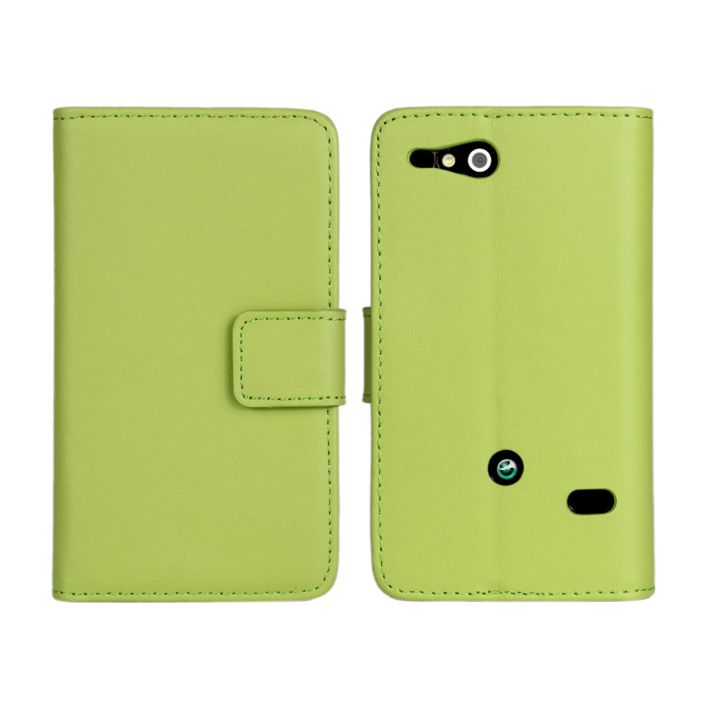 ST27i Cell phone case 100% Genuine leather case for Sony Xperia go ST27i ST27a Flip Cover Mobile Phone Bags & Cases Accessories