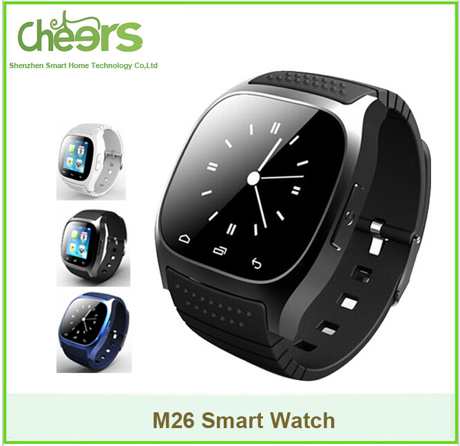 Waterproof Bluetooth Smart Watch M26 Wristwatch Sync Phone Call Pedometer Anti-lost For Samsung Huawei Xiaomi Android Smartphone(China (Mainland))