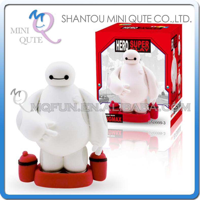 Mini Qute Bonnie kawaii big hero 6 baymax DIY American cartoon model building block plasticine clay educational toy NO.BN9999-3(China (Mainland))