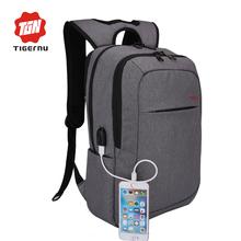 2017 Tigernu Men's Backpacks USB charging Bolsa Mochila for Laptop 14-15Inch Notebook Computer Bags Men Backpack School Rucksack(China (Mainland))