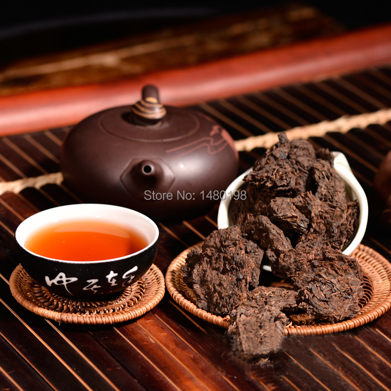 Royal Grade Loose Puer Tea, 8.8oz Puer Tea 250g, Ripe pu er, buy bulk china with Free Shipping(China (Mainland))