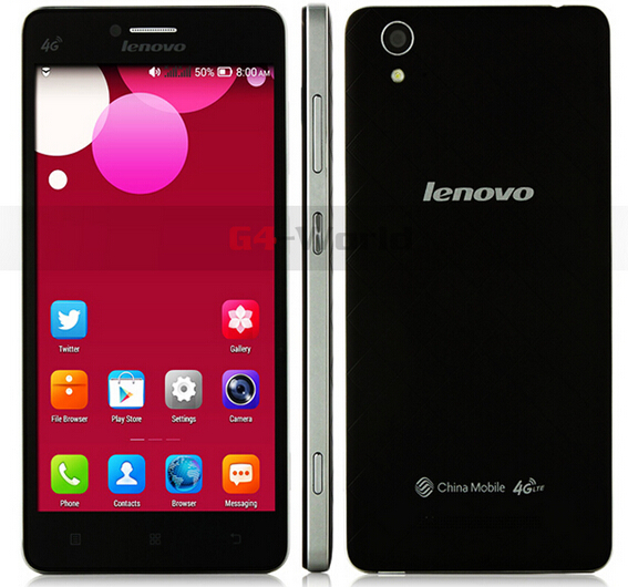 "Original lenovo A858T 4G LTE MTK6732 Quad Core smart phone 1GB RAM 8GB ROM 8.0MP GPS 5"" android 4.4 1280 x 720 black in stock(China (Mainland))"