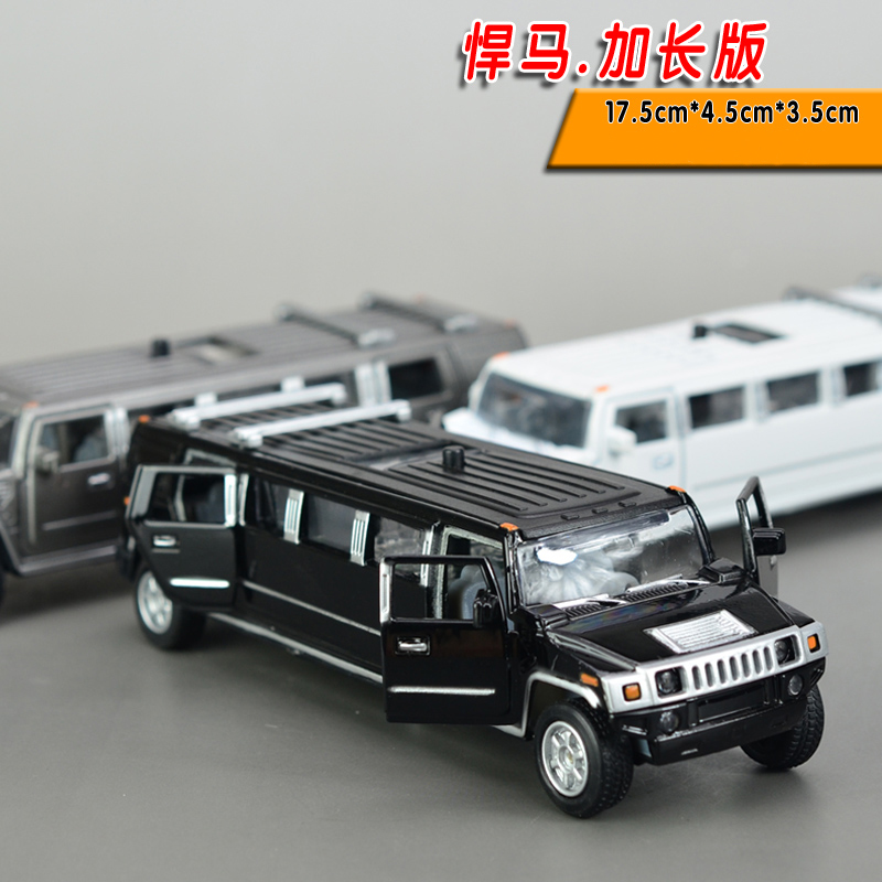 Free Shipping 1:38 Scale Alloy Metal Diecast Car Model For Hummer Limousine Luxury Truck Collection Model Pull Back Toys Car(China (Mainland))