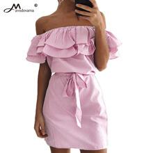 Buy Avodovama M Women Summer 2017 Dress Cute Striped Slash Neck Ruffles Short Vestidos Bodycon Knee-length for $9.89 in AliExpress store