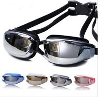 2015 جديد الرجال النساء مكافحة الضباب فوق البنفسجية حماية نظارات السباحة المهنية بالكهرباء للماء السباحة نظارات